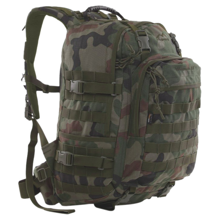 WISPORT WHISTLER ARMY RUCKSACK SECURITY BACKPACK MOLLE 35L POLISH WOODLAND CAMO