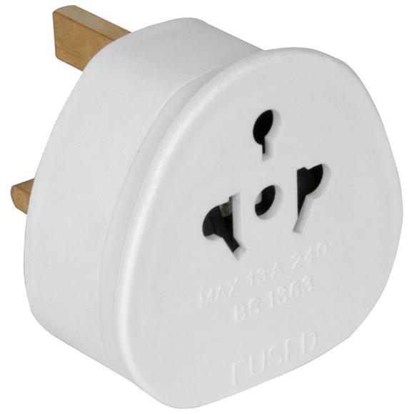 PowerPlus UK Travel Adaptor White