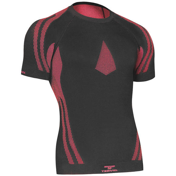 Tervel Optiline Light MOD-02 Shirt Short Sleeve Black / Red