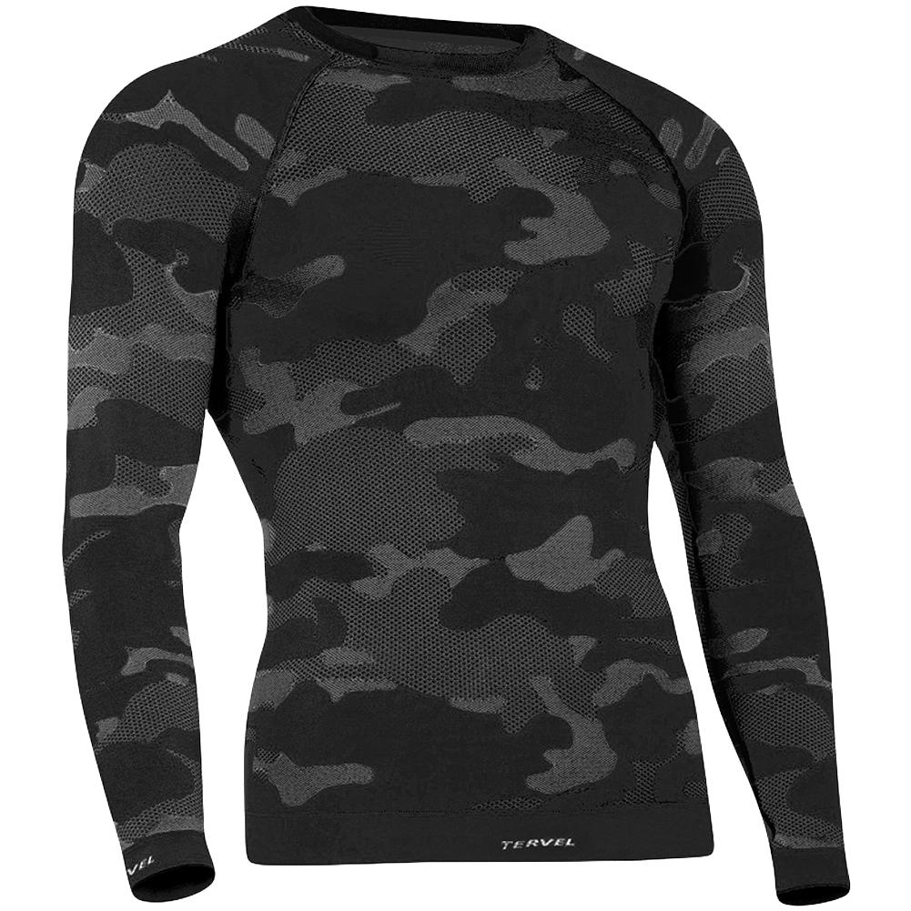 Tervel Optiline Tactical Shirt Long Sleeve Black Grey