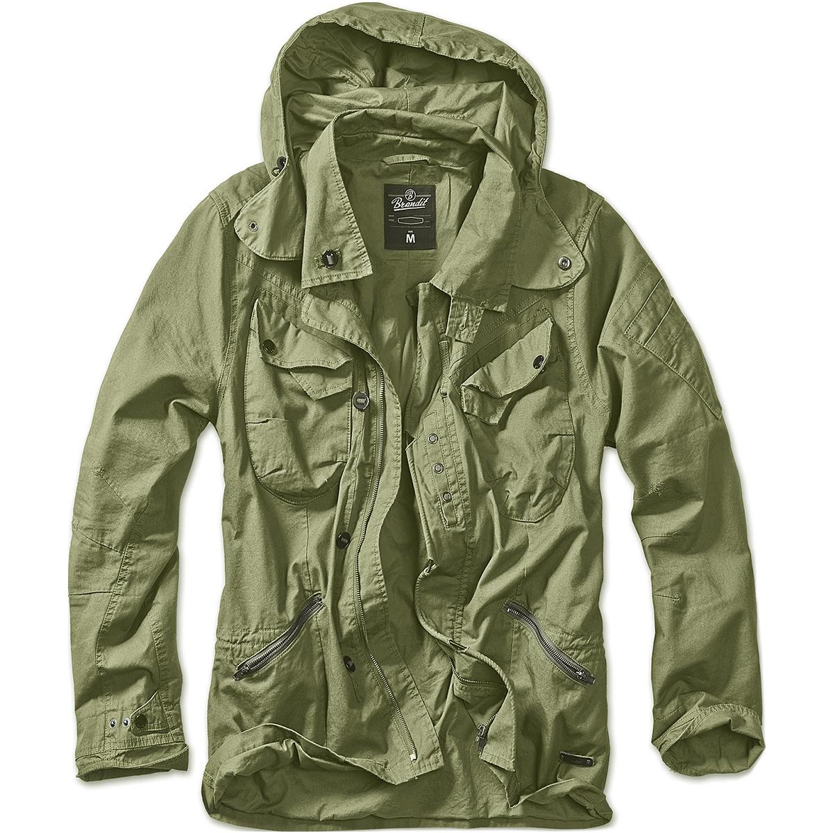 Brandit Mens Byron Outdoor Jacket Long Sleeve Hooded Cotton