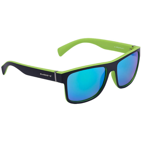 Swiss Eye Avenue Sunglasses Black Matt / Green Frame