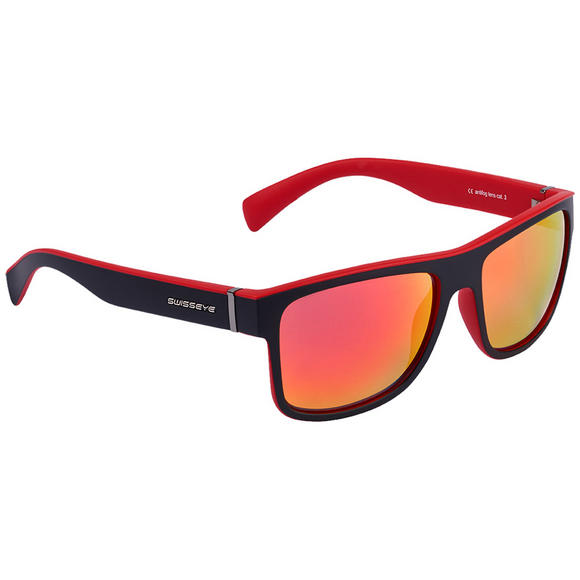 Swiss Eye Avenue Sunglasses Black Matt / Red Frame