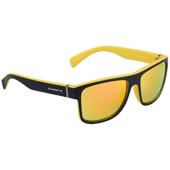 Swiss Eye Avenue Sunglasses Black Matt / Yellow Frame