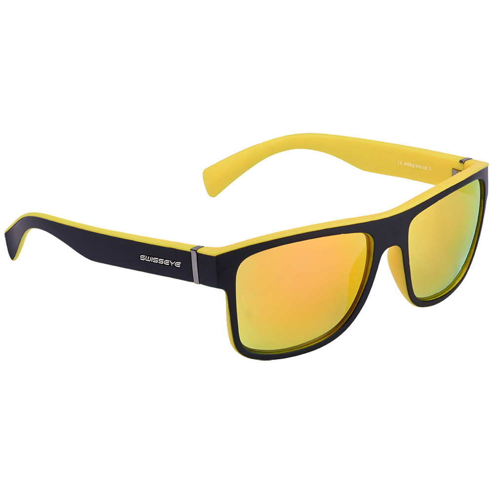 Glasses With Yellow Frame : Swiss Eye Avenue Sunglasses Black Matt / Yellow Frame ...