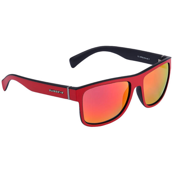 Swiss Eye Avenue Sunglasses Red Matt / Black Frame