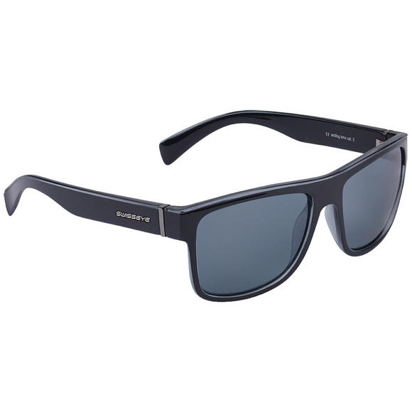 Swiss Eye Avenue Sunglasses Black Shiny Frame