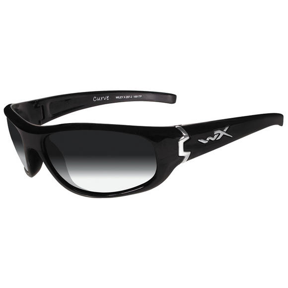 Wiley X Curve Glasses - Light Adjusting Smoke Grey Lens / Gloss Black Frame