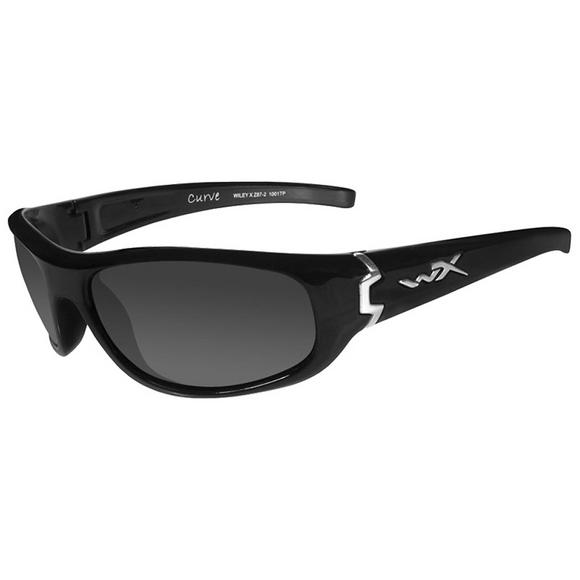 Wiley X Curve Glasses - Smoke Grey Lens / Gloss Black Frame