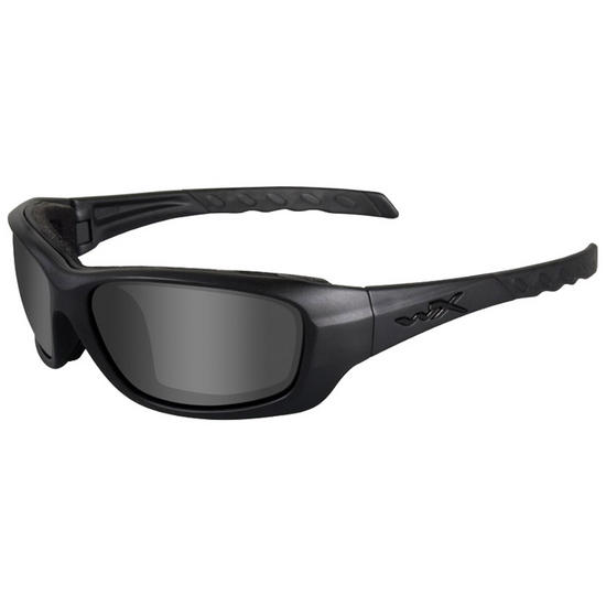 Wiley X WX Gravity Glasses - Black Ops Smoke Grey Lens / Matte Black Frame