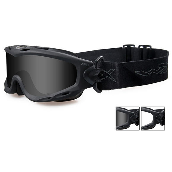 Wiley X Spear Goggles - Smoke Grey + Clear Lens / Matte Black Frame