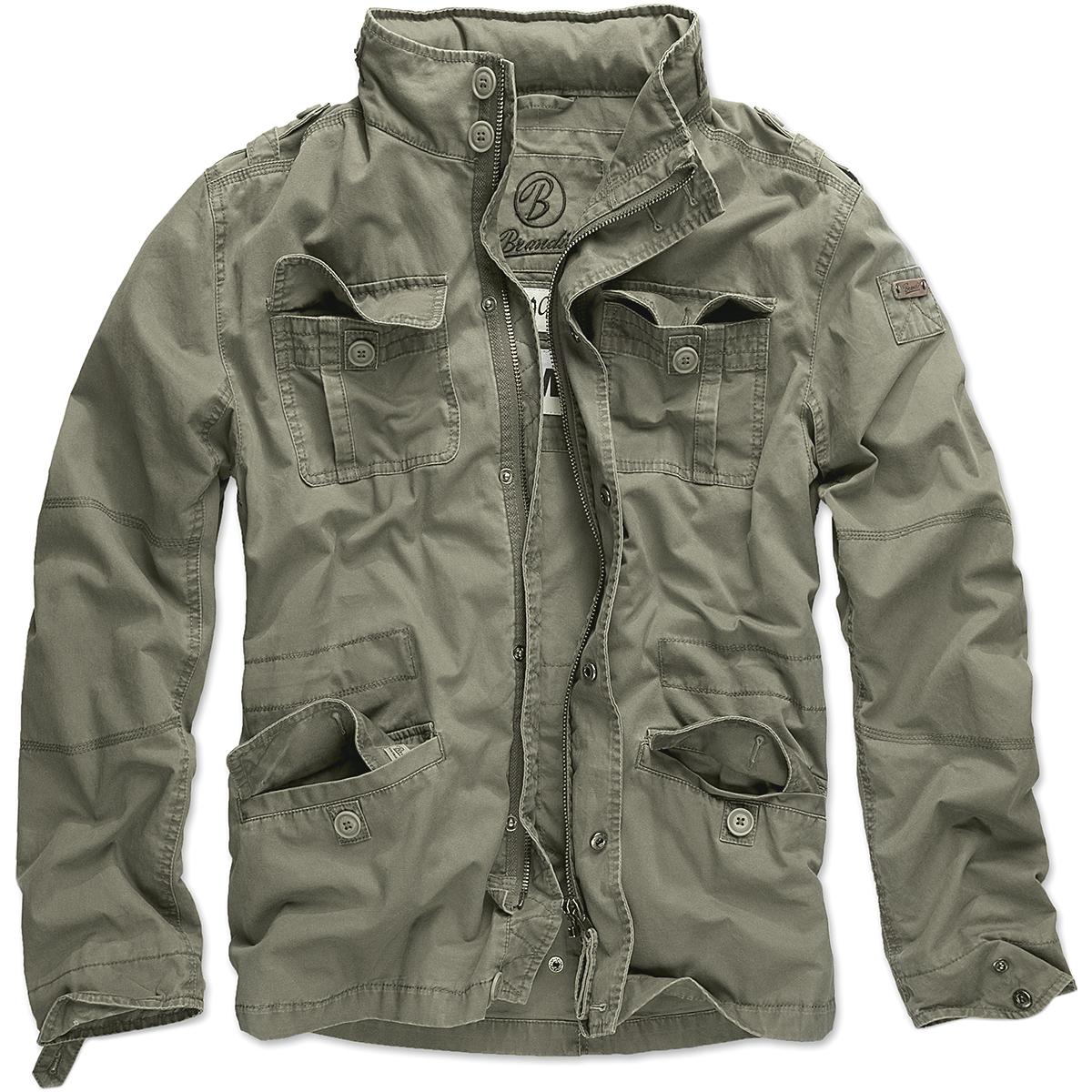 Mens jacket cotton - Brandit Britannia Field Jacket Warm Hiking Coat Mens