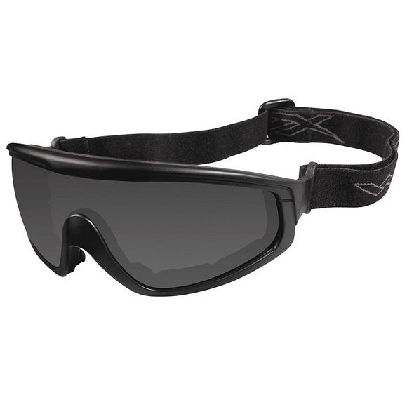 Wiley X CQC Goggles - Smoke Grey + Clear Lens / Matte Black Frame