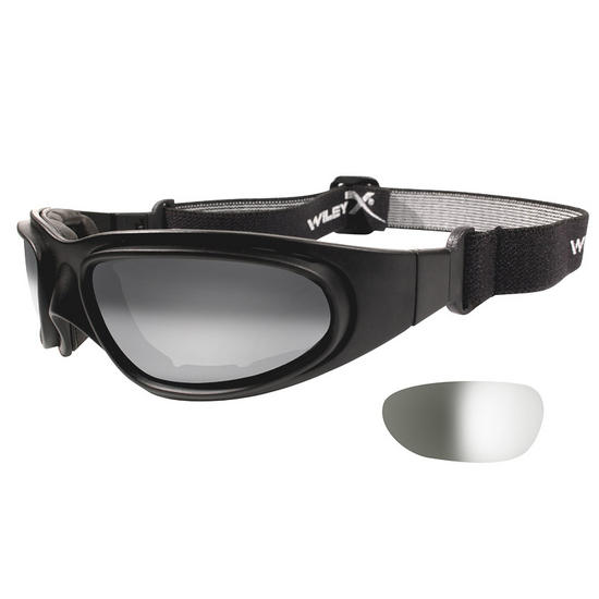 Wiley X SG-1 Goggles - Light Adjusting Smoke Grey Lens / Matte Black Frame