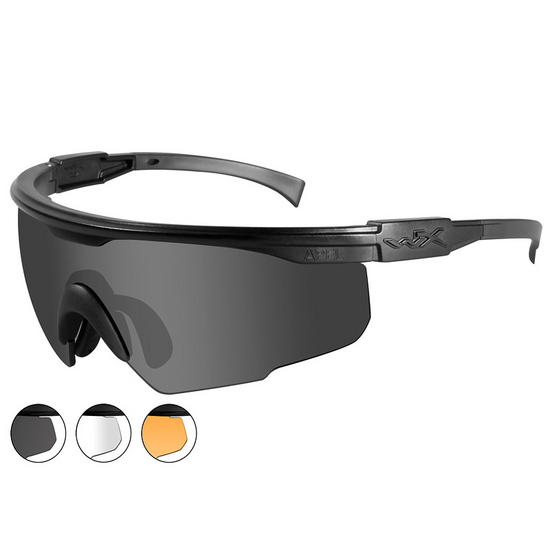 Wiley X PT-1 - Smoke Grey + Clear + Light Rust Lens / Matte Black Frame