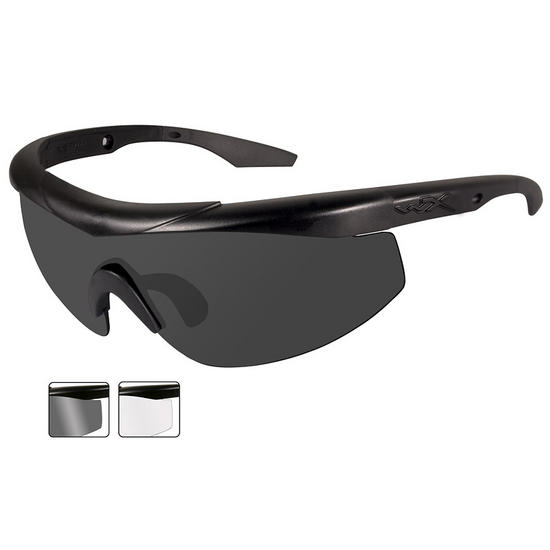 Wiley X WX Talon Glasses - Smoke Grey + Clear Lens / Matte Black Frame