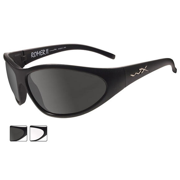 Wiley X Romer II Advanced - Smoke Grey + Clear Lens / Matte Black Frame