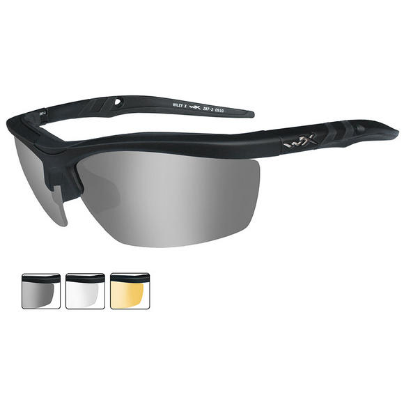 Wiley X Guard - Smoke Grey + Clear + Light Rust Lenses / Matte Black Frame