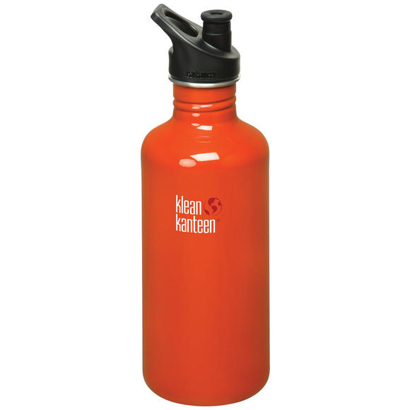 Klean Kanteen Classic 1182ml Bottle with Sport Cap Flame Orange