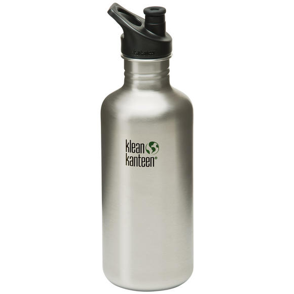 Klean Kanteen Classic 1182ml Bottle with Sport Cap Brush Stainless