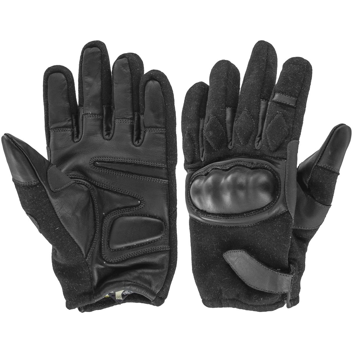 Black leather combat gloves - Highlander Bravo Gloves Black Highlander Bravo Gloves Black