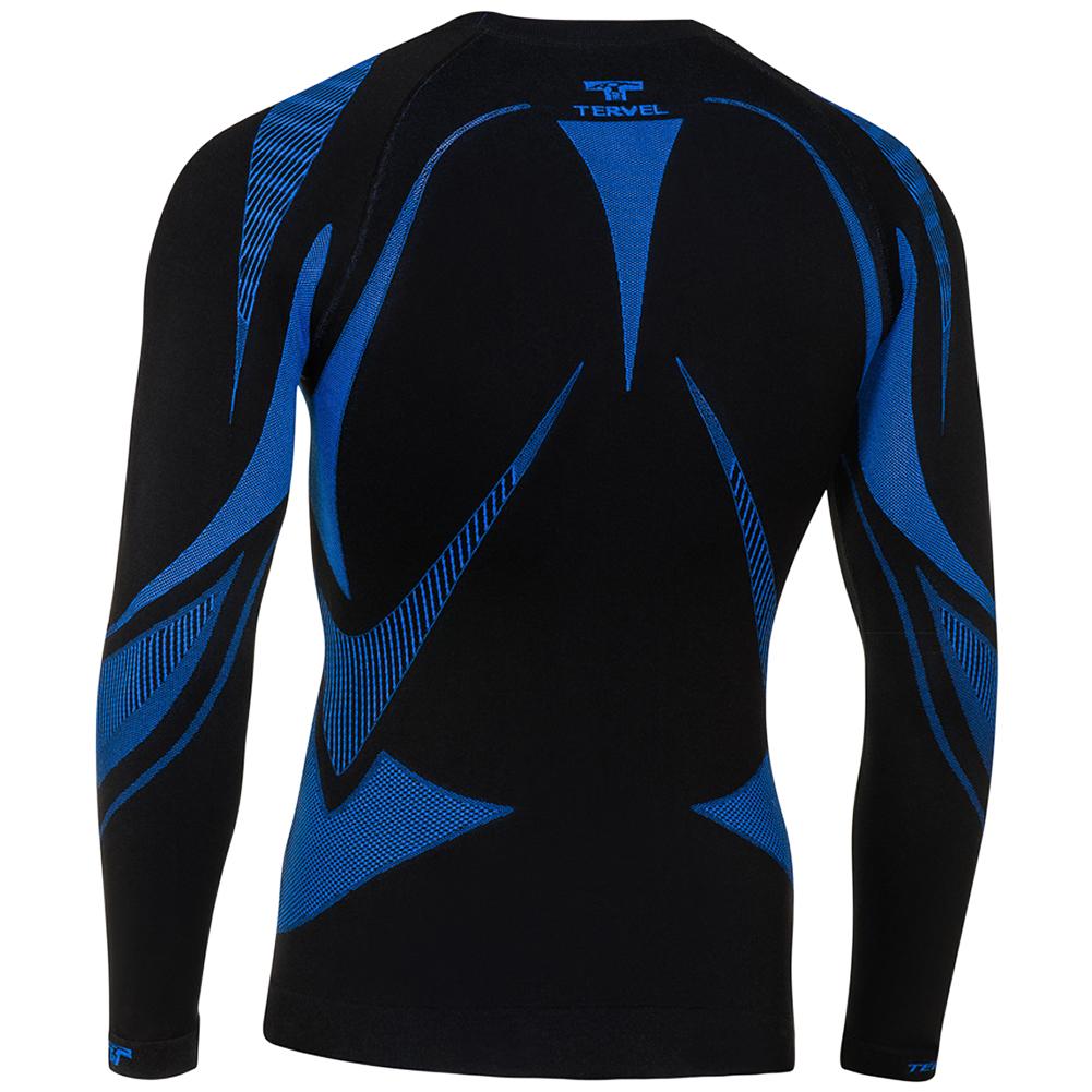 Tervel optiline mod 02 shirt long sleeve black blue for Black and blue long sleeve shirt