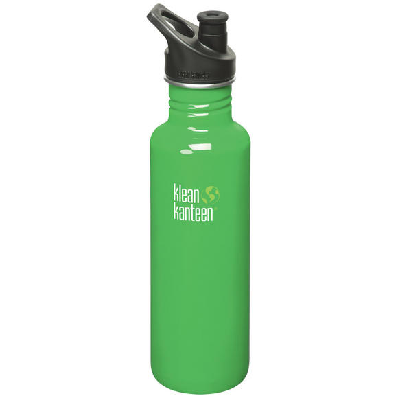 Klean Kanteen Classic 800ml Bottle with Sport Cap 3.0 Organic Green