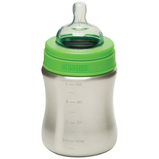 Kid Kanteen 266ml Baby Bottle Brushed Stainless