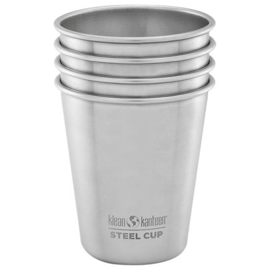 Klean Kanteen 296ml Cups (4-Pack) Brushed Stainless