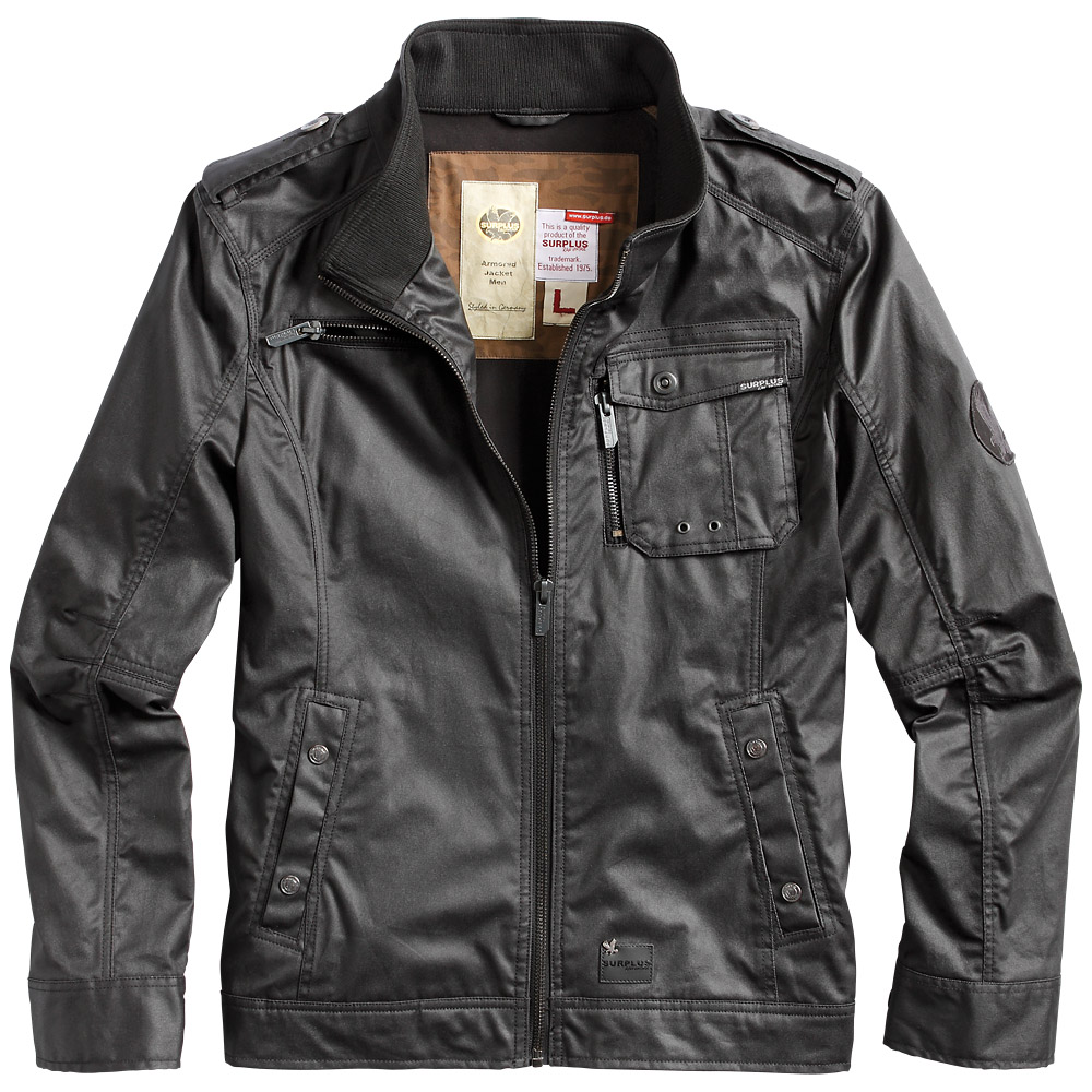 Surplus Armored Mens Army Style Casual Jacket Pu Coated ...