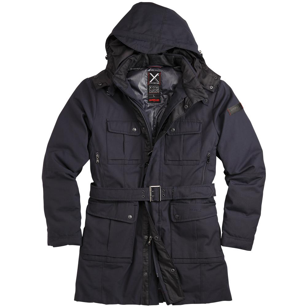 Surplus Warm Padded Xylontum Mens Coat Hooded Waterproof ...