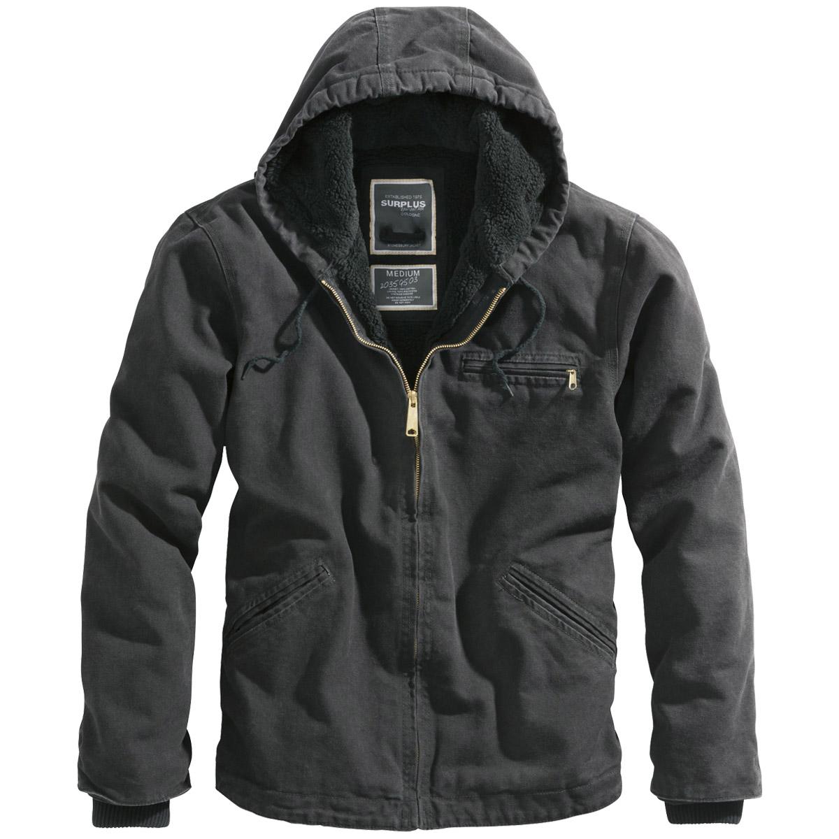 Mens jacket cotton - Surplus Stonesbury Warm Mens Cotton Jacket Hooded Vintage