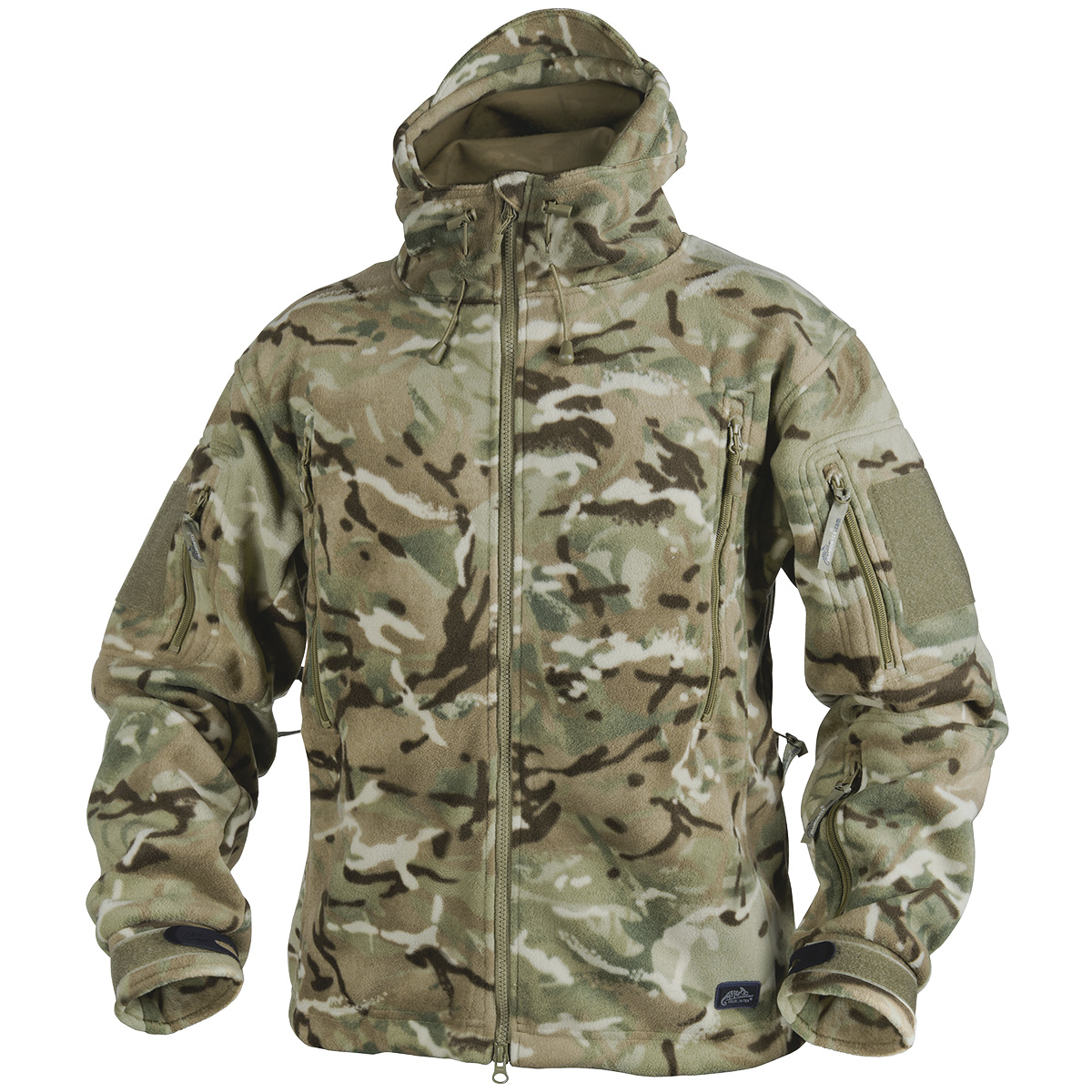 helikon patriot tactical hooded jacket double warm polar hunting fleece mtp camo ebay. Black Bedroom Furniture Sets. Home Design Ideas
