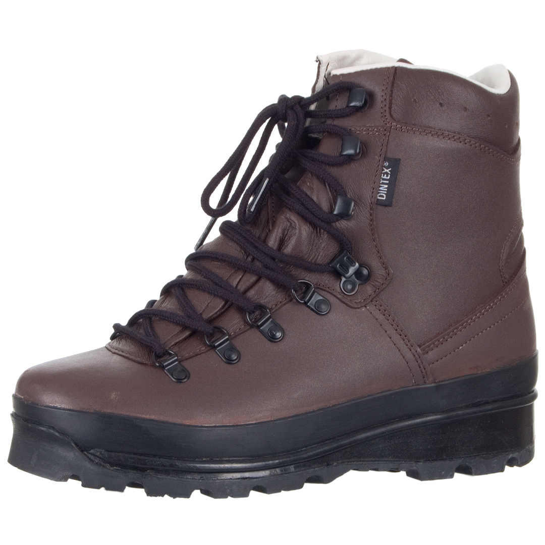 TACTICAL GERMAN MOUNTAIN HIKING BOOTS BW ARMY WATERPROOF LEATHER FOOTWEAR BROWN