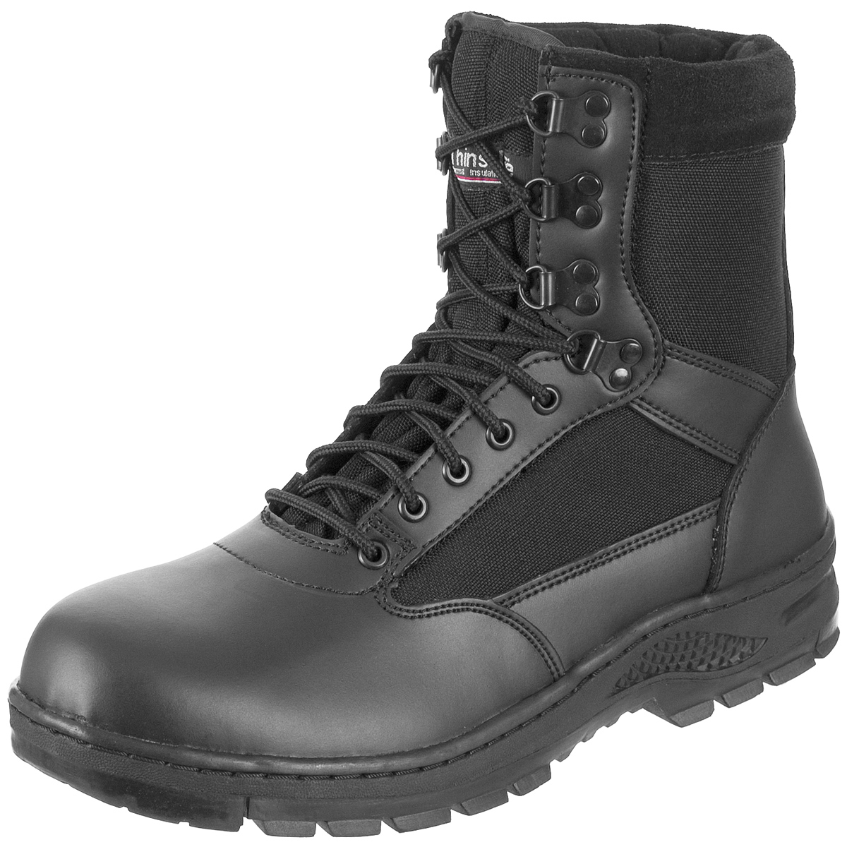 SurplUS Tactical Mens Police Security Footwear Leather Army Work 8u0026quot; Boots Black | EBay