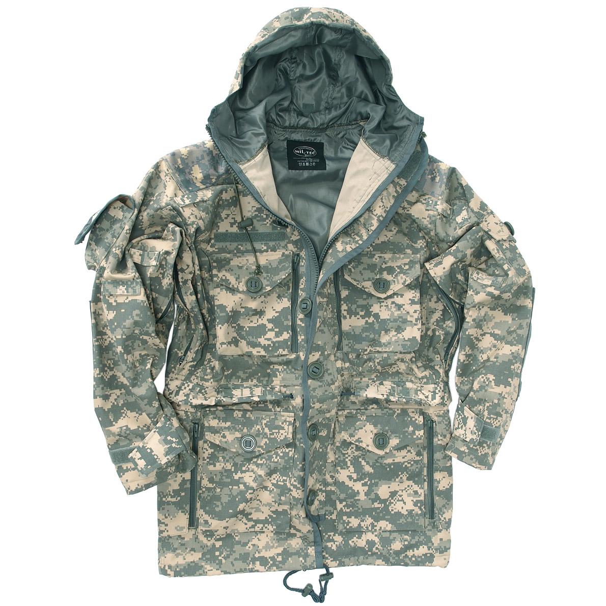 mil tec tactical military smock army parka hunting mens jacket acu digital camo ebay. Black Bedroom Furniture Sets. Home Design Ideas