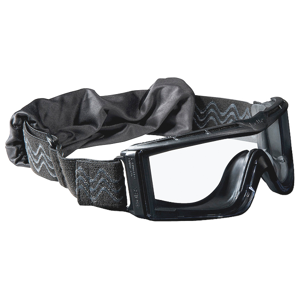 BOLLE TACTICAL X810 BALLISTIC GOGGLES CLEAR LENS ADJUSTABLE STRAP AIRSOFT BLACK