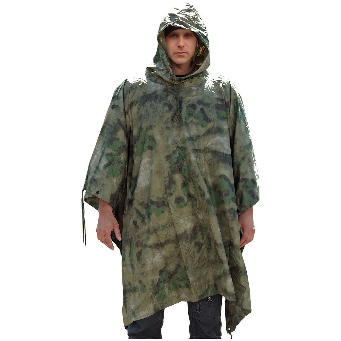 WATERPROOF-HOODED-US-ARMY-RIPSTOP-FESTIVAL-RAIN-PONCHO-MILITARY-CAMPING-HIKING
