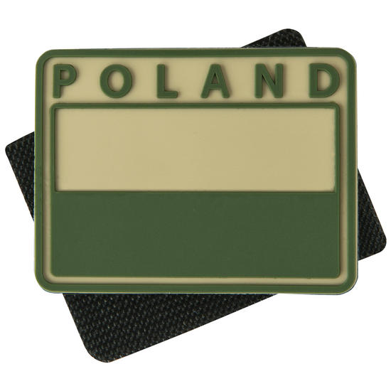 Helikon Polish Subdued Flag Patch with Poland Print Khaki Set of 2