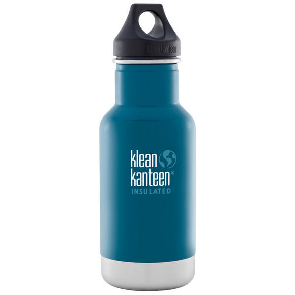 Klean Kanteen 355ml Classic Insulated Bottle Loop Cap Winter Lake