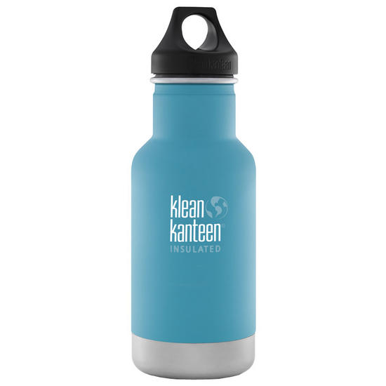 Klean Kanteen 355ml Classic Insulated Bottle Loop Cap Quiet Storm