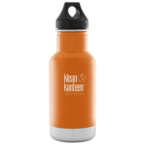 Klean Kanteen 355ml Classic Insulated Bottle Loop Cap Canyon Orange