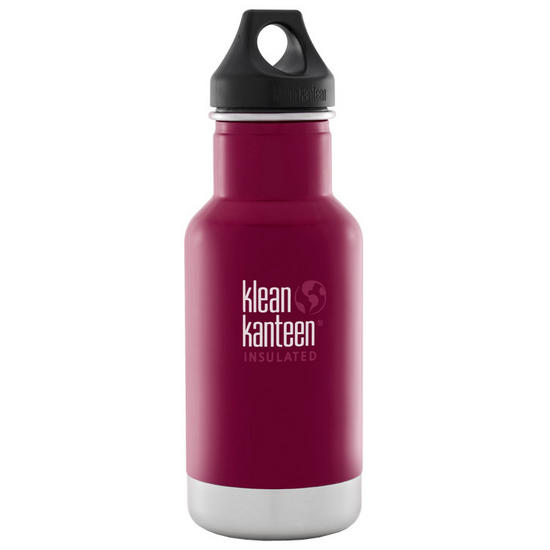 Klean Kanteen 355ml Classic Insulated Bottle Loop Cap Beet Root