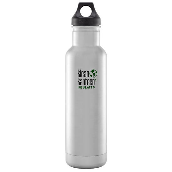Klean Kanteen 592ml Classic Insulated Bottle Loop Cap Brushed Stainless