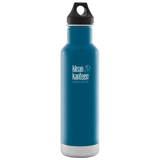 Klean Kanteen 592ml Classic Insulated Bottle Loop Cap Winter Lake