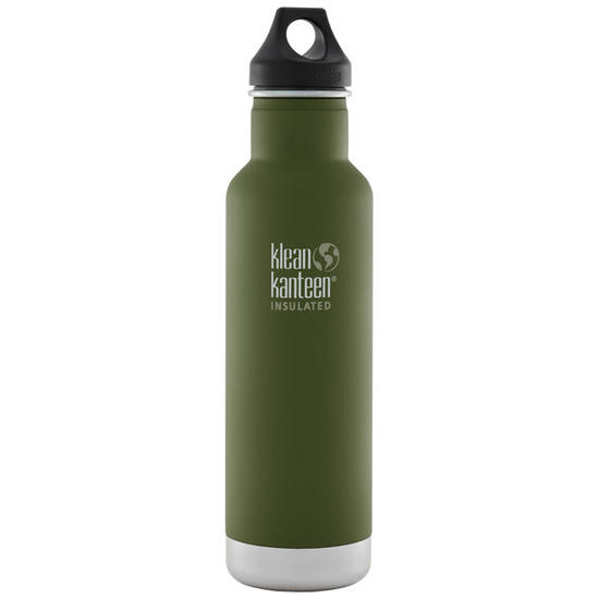 Klean Kanteen 592ml Classic Insulated Bottle Loop Cap Fresh Pine