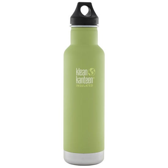Klean Kanteen 592ml Classic Insulated Bottle Loop Cap Bamboo Leaf