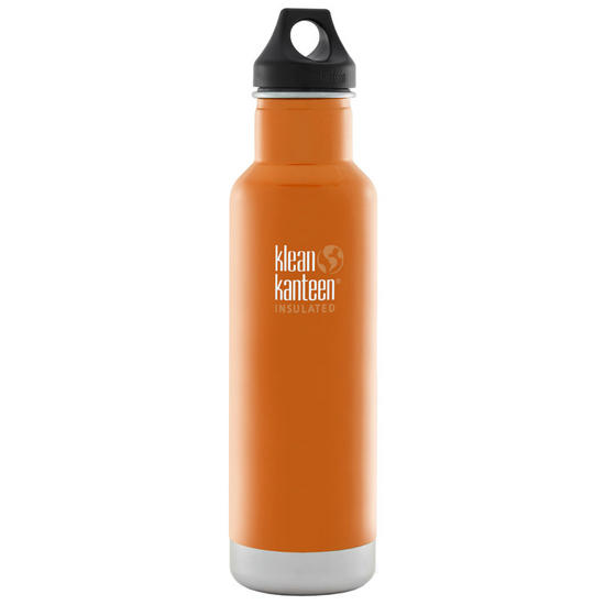 Klean Kanteen 592ml Classic Insulated Bottle Loop Cap Canyon Orange