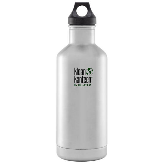 Klean Kanteen 946ml Classic Insulated Bottle Loop Cap Brushed Stainless