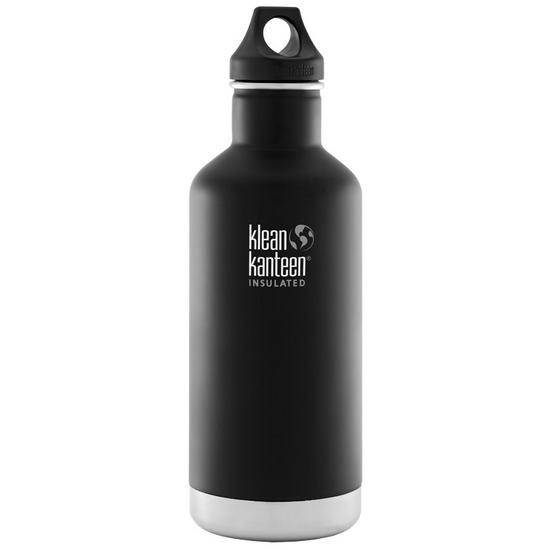 Klean Kanteen 946ml Classic Insulated Bottle Loop Cap Shale Black